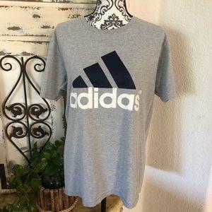 Adidas gray logo tee shirt size large